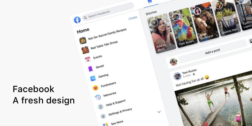 nouveau design facebook 2020